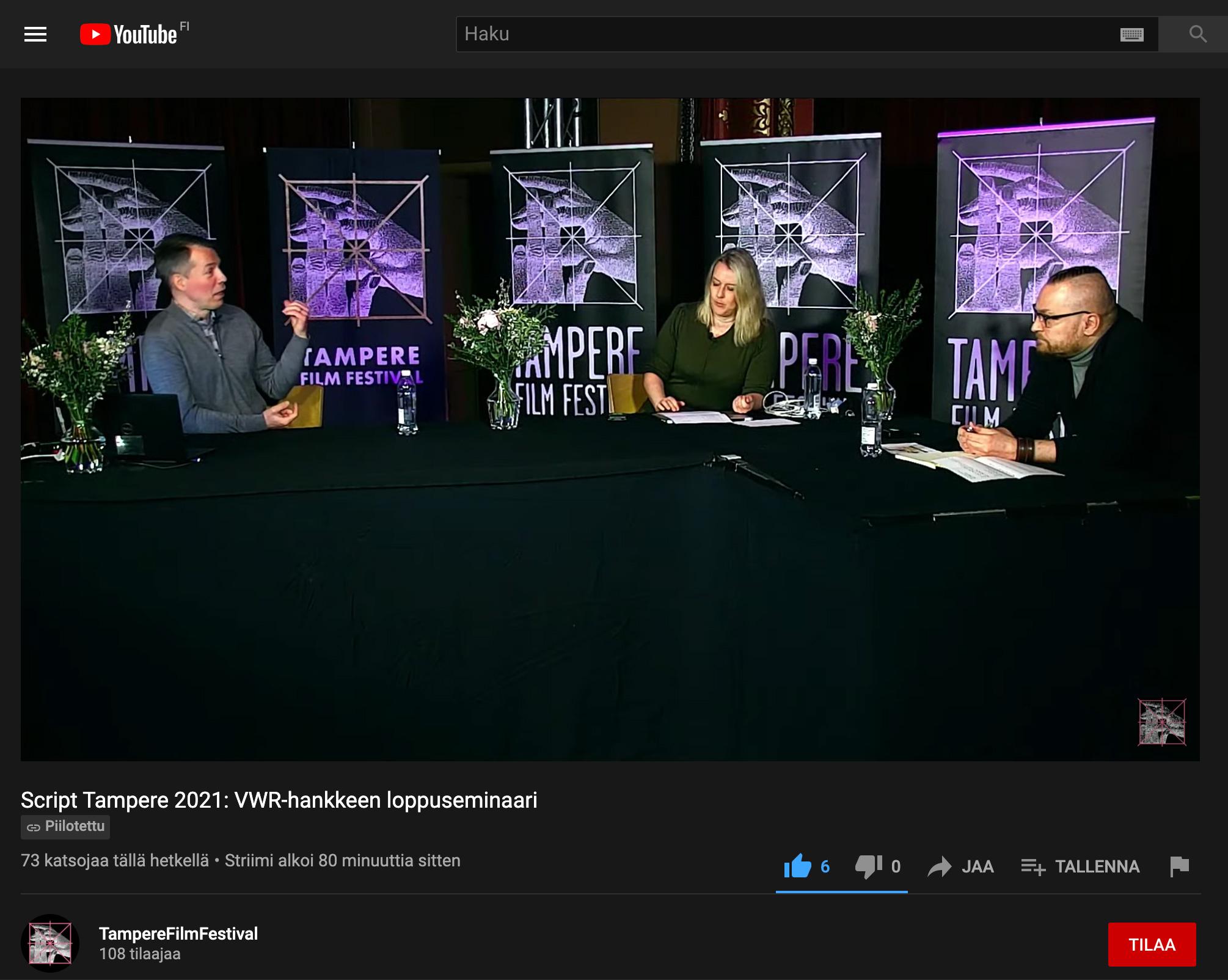 Timo Lehti, Miira Karhula ja Teppo Nuutinen VWR-lopputapahtumassa.